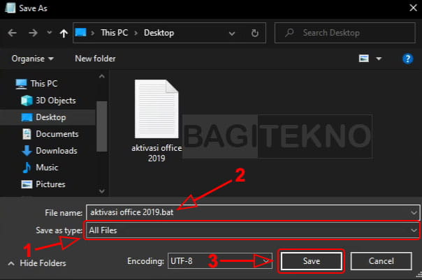 Membuat file aktivator dengan CMD