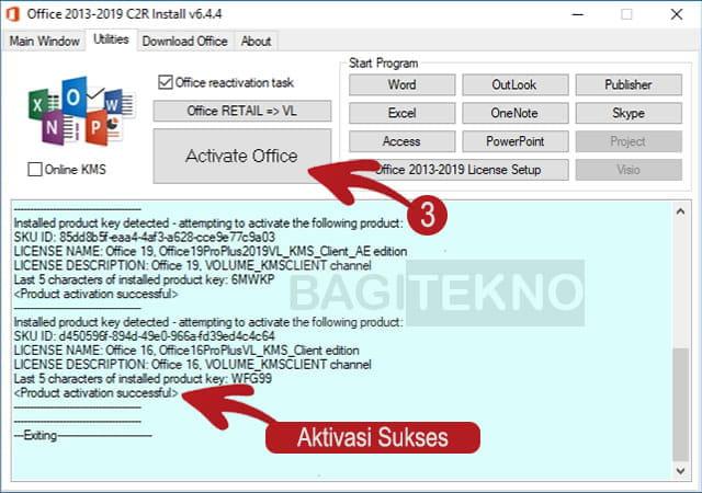 Aktivatis Office 2019 dengan KMS Office