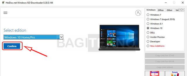 Mengunduh Windows 10 pro keluaran terbaru