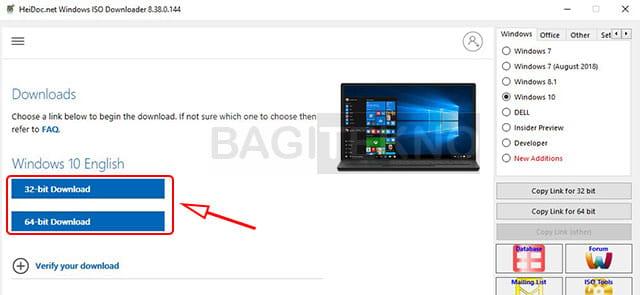 Mengunduh Windows 10 terbaru 32 bit dan 64 bit