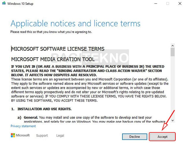 Download Windows 10 terbaru menggunakan media creation tool