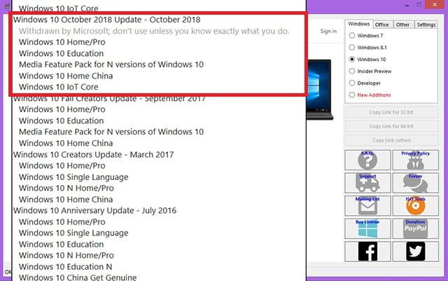Download ISO Windows 10 Oktober 2018 Update