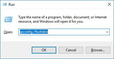 Cara flush DNS menggunakan Command Run