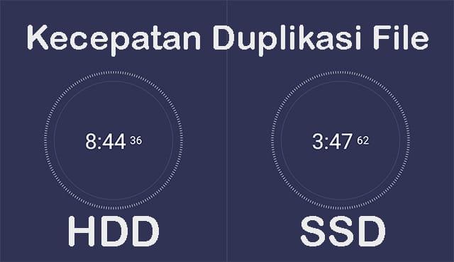 Perbandingan Kecepatan Copy Paste File antara HDD dan SSD