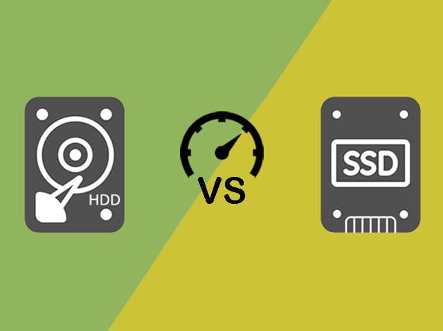 Perbandingan kecepatan antara HDD dan SSD