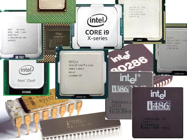 Jenis-jenis prosesor Intel dari masa ke masa sejak tahun 1971 hingga saat ini