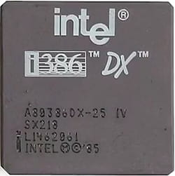 Jenis prosesor Intel 386