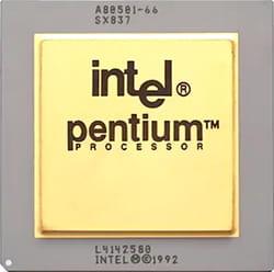 Jenis prosesor Intel Pentium