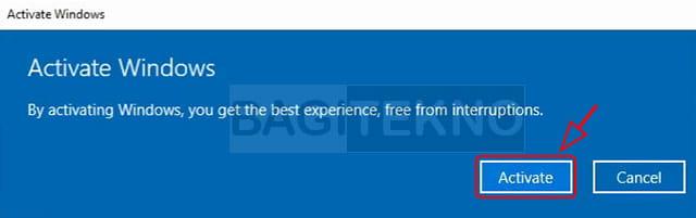 Mengaktifkan Windows 10 menggunakan lisensi original
