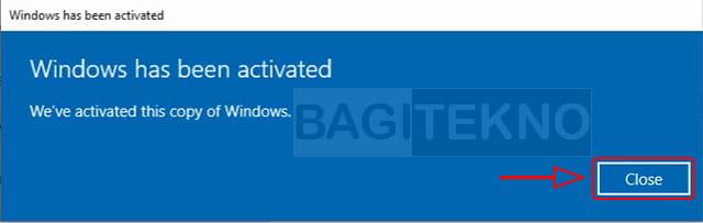 Windows sudah teraktivasi asli