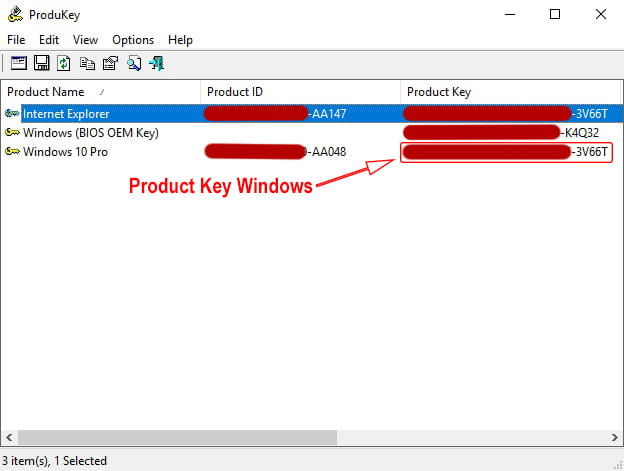 Cara melihat product key Windows 10 pro