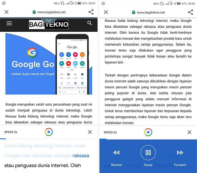 Google Go mampu membacakan isi website