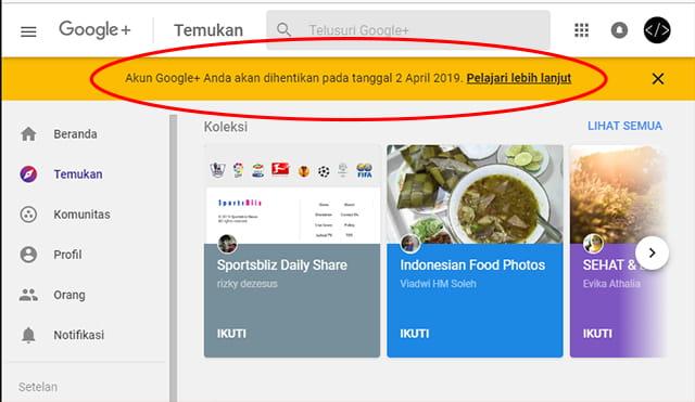 Penyebab dan alasan Google+ ditutup