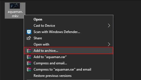 Cara split file kapasitas besar menggunakan WinRAR