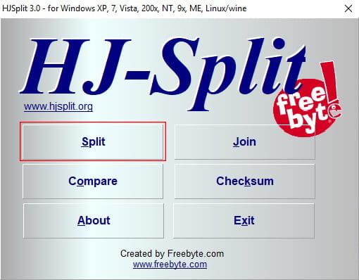 Cara split file menggunakan HJ-Split