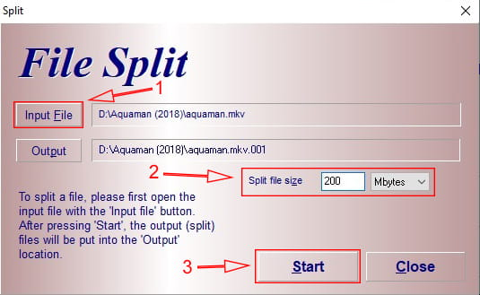 Cara mengecilkan ukuran file dengan cara split