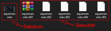 Memecah file menjadi beberapa bagian