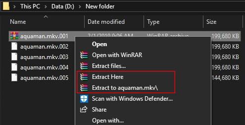 Cara menggabungkan file part menggunakan WinRAR