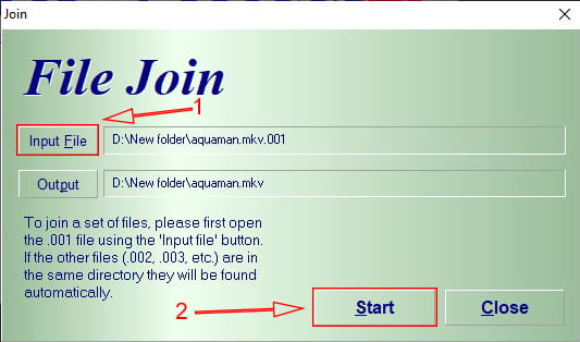 Cara menggabungkan file terpisah menjadi satu menggunakan HJSplit