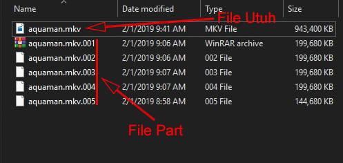 Cara menggabungkan file 001, 002, 003, dst menjadi satu menggunakan software HJSplit