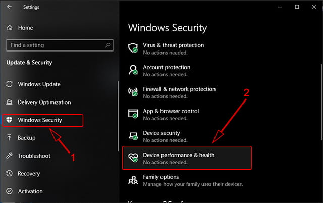 Tips memeriksa kesehatana Laptop melalui Windows Security