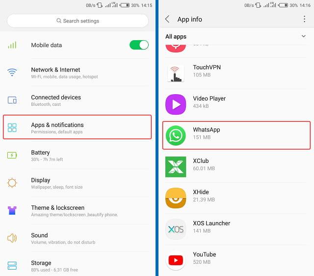 Cara mematikan notifikasi WhatsApp Web sedang aktif melalui pengaturan Android