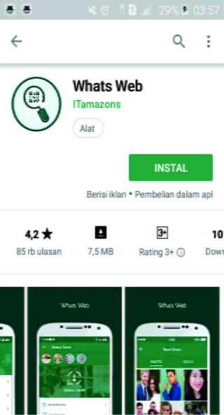 Cara sadap aplikasi WhatsApp menggunakan Whats Web