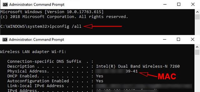 Cara melihat MAC Address komputer Windows menggunakan CMD