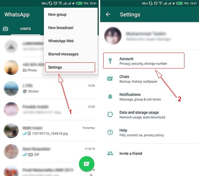 Melakukan pengaturan privasi WhatsApp