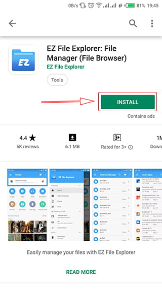 Install EZ File Explorer