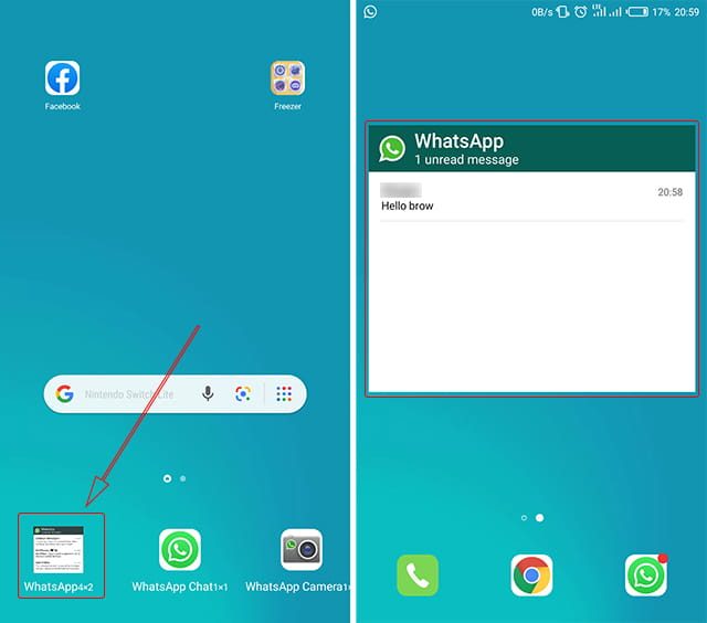 Menampilkan widget WhatsApp di halan depan
