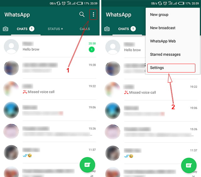 Cara setting aplikasi WhatsApp