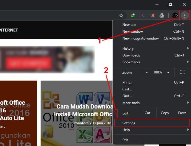 Melakukan Setting pada Google Chrome