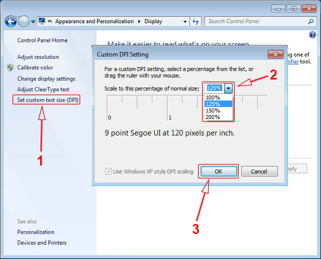 Custom DPI pada Windows 7