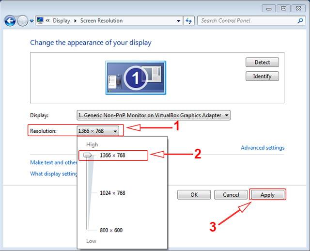Memperbaiki resolusi monitor di Windows 7