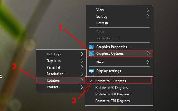 Cara mengembalikan putaran layar komputer yang terbalik