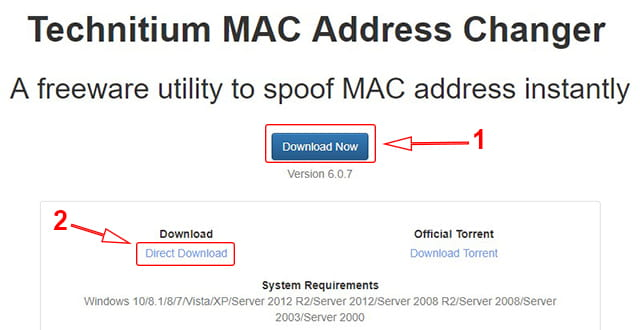 Cara download Technitium MAC Address (TMAC)