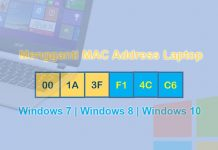 Cara mengganti MAC Address Laptop Windows 7/8/10