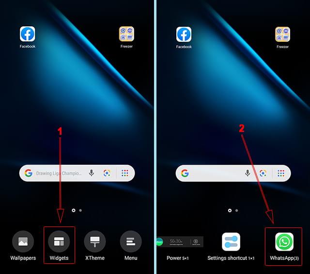Cara menambahkan widget WhatsApp di Android