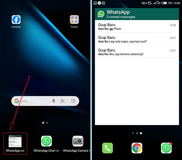 Melihat chat grup WA tanpa diketahui melalui widget