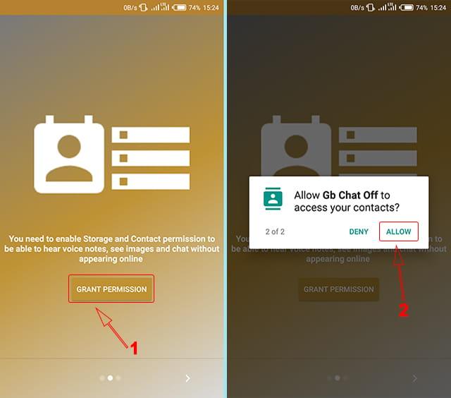Membaca percakapan grup WA tanpa diketahui menggunakan aplikasi GB Chat Offline for WhatsApp