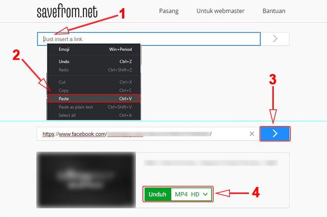 download video facebook tanpa aplikasi di Laptop