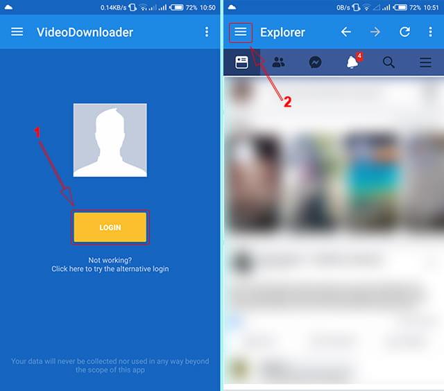 Menggunakan Facebook Video Downloader