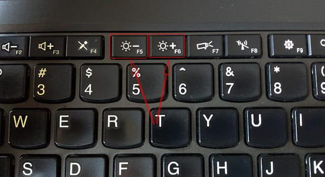 Mengubah brightness menggunakan tombol Keyboard