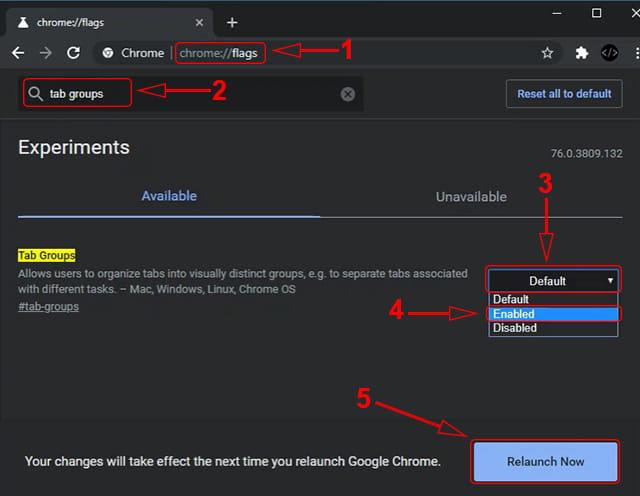 Cara mengaktifkan fitur Tab Groups Google Chrome Laptop