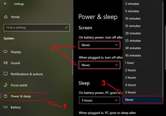 Cara settings agar layar laptop tidak mati di Windows 10