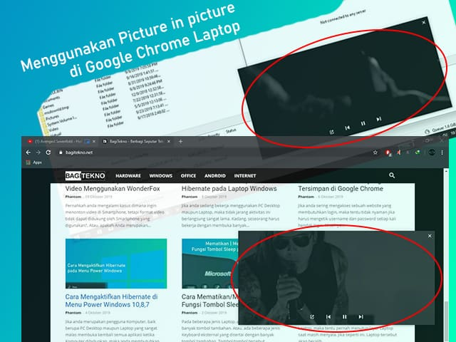 How to use the Picture in picture feature on Google Chrome Laptop