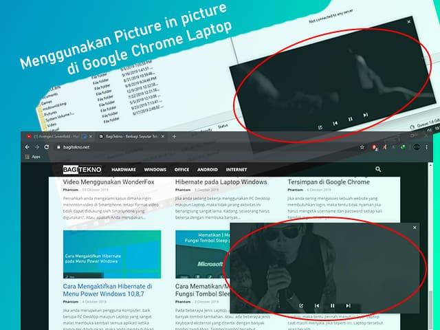 Cara menggunakan fitur Picture in picture di Google Chrome Laptop