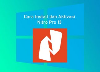 Cara install software Nitro Pro 13