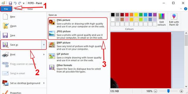 Cara mengubah file foto berfofmat JPG ke PNG